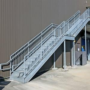 straight stairs with intermediate landing