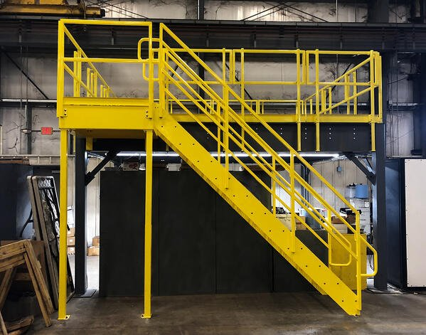 Mezzanine stair code requirements