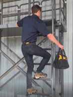 Unsafe ladder use
