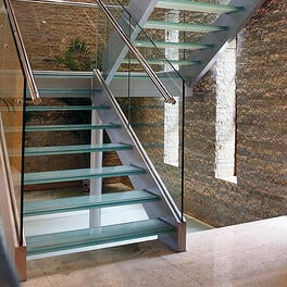 steel stair with cladding