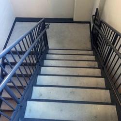 Steel railing and handrails