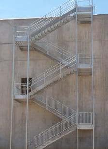 exterior egress stairs
