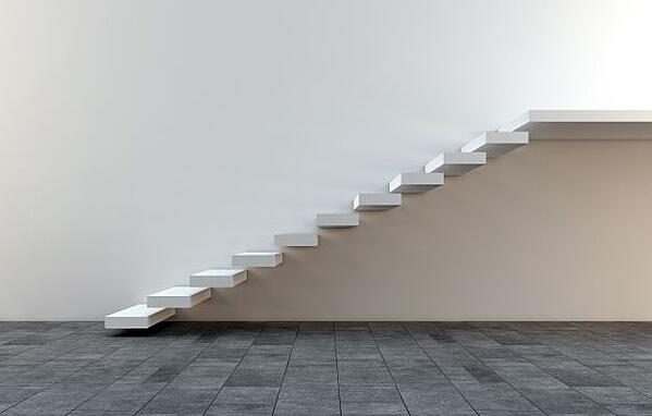 floating stair design example