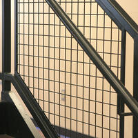 Wire mesh railing