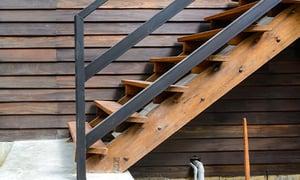 Wood stair stringer