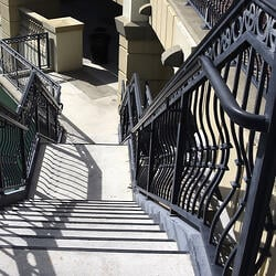 Wrought iron railing and handrails